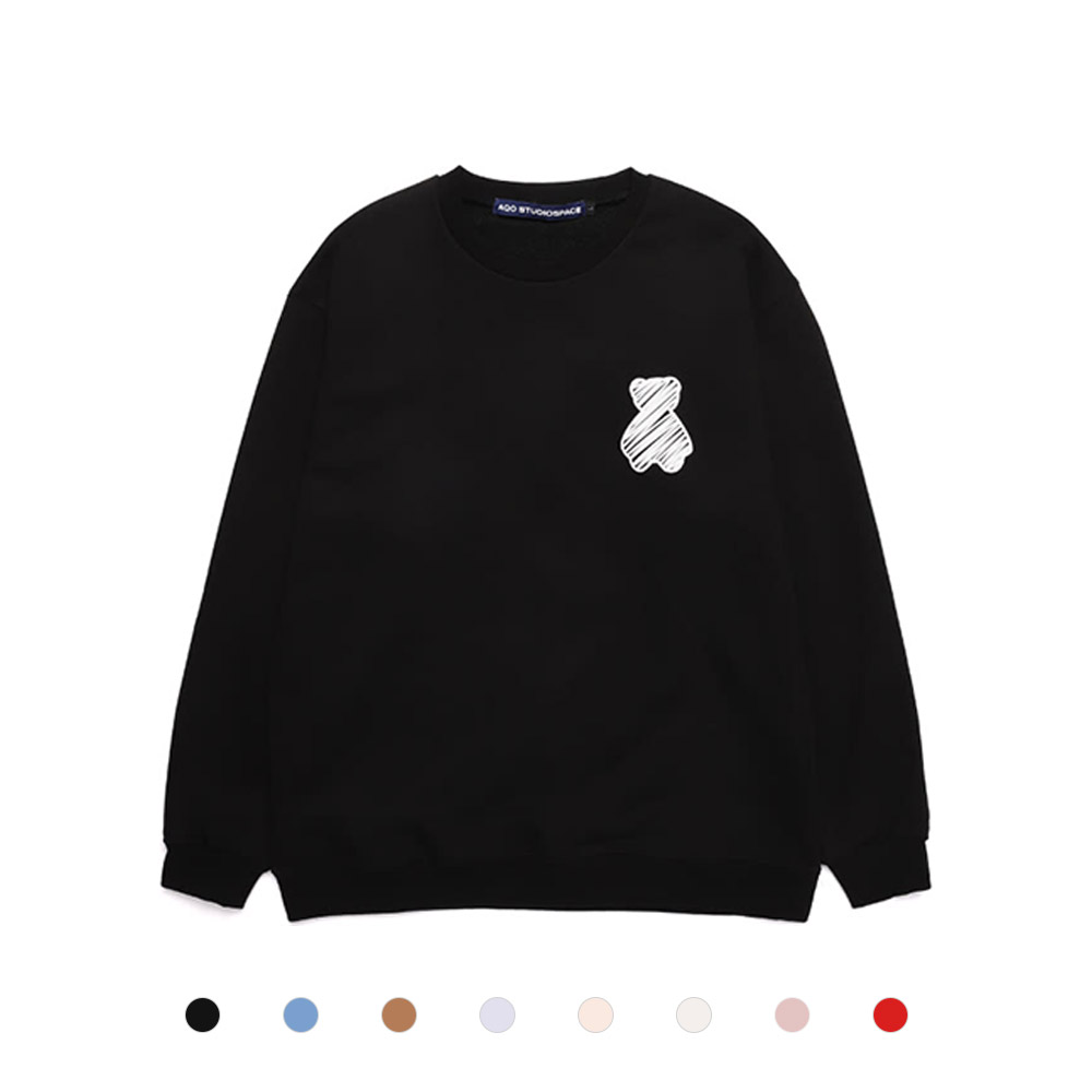 [AQOSTUDIO] AQO BEAR SWEATSHIRT 8COLOR